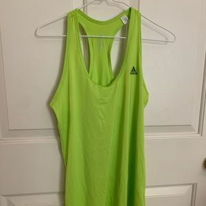 Green Adidas Running Workout Tank